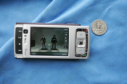 The Nokia N95 cell phone shoots streaming video (courtesy mediaeater at Flickr CC)