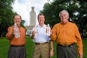photo of Tim McClure, UT President William Powers Jr., and Steve Gurasich